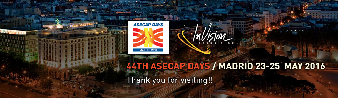 44TH ASECAP DAYS / MADRID 23-25  MAY 2016