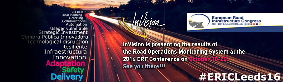 InVision is presenting the results of  the Road Operations Monitoring System at the  2016 ERF Conference on October 18-20